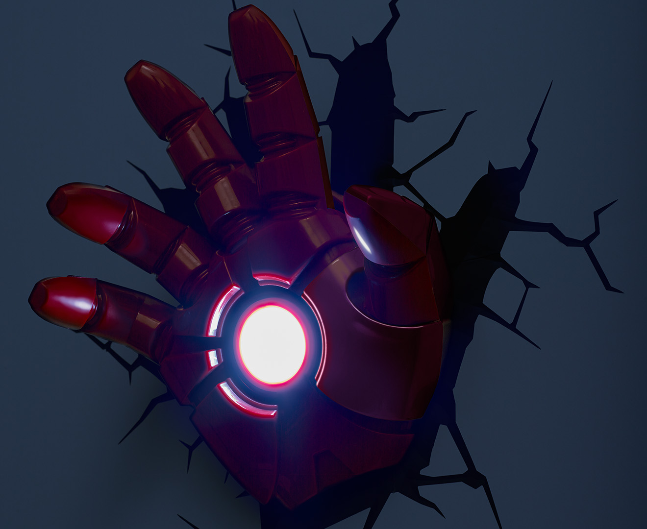 3D Marvel Iron Man Hand Wall Light - Red eBay