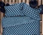 Ardor Arabesque Reversible Queen Quilt Cover Set - Indigo 2