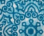 Ardor Arabesque Reversible Queen Quilt Cover Set - Indigo 3