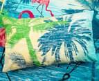 Retro Home Flamingo Double Quilt Cover Set - Aqua 6