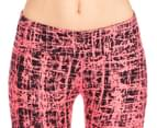 Calvin Klein Performance Women's Cross Hatch Print Crop Tight - Day Glow Combo 3
