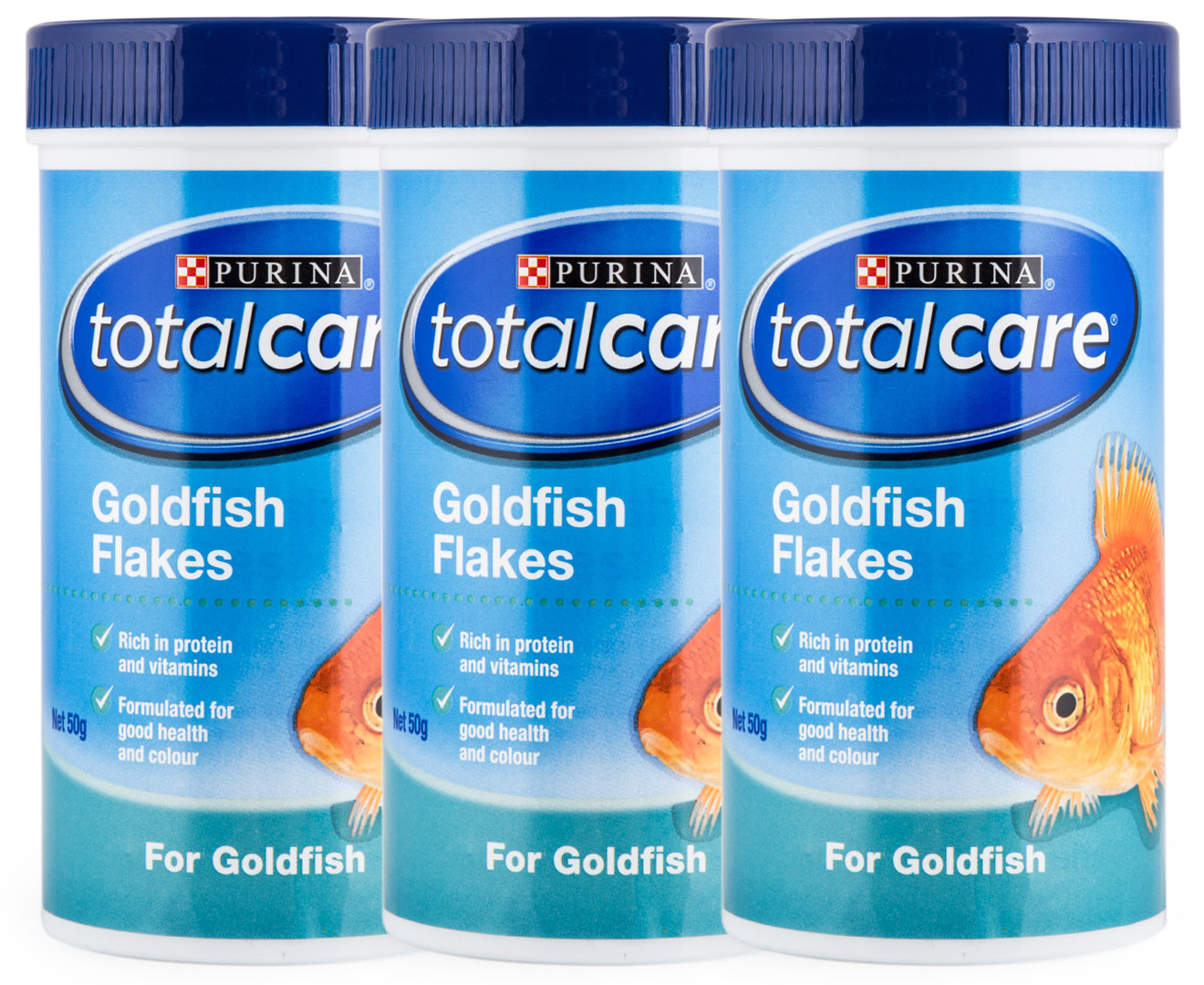 3 x purina total care goldfish flakes 50g ebay for Purina tropical fish food