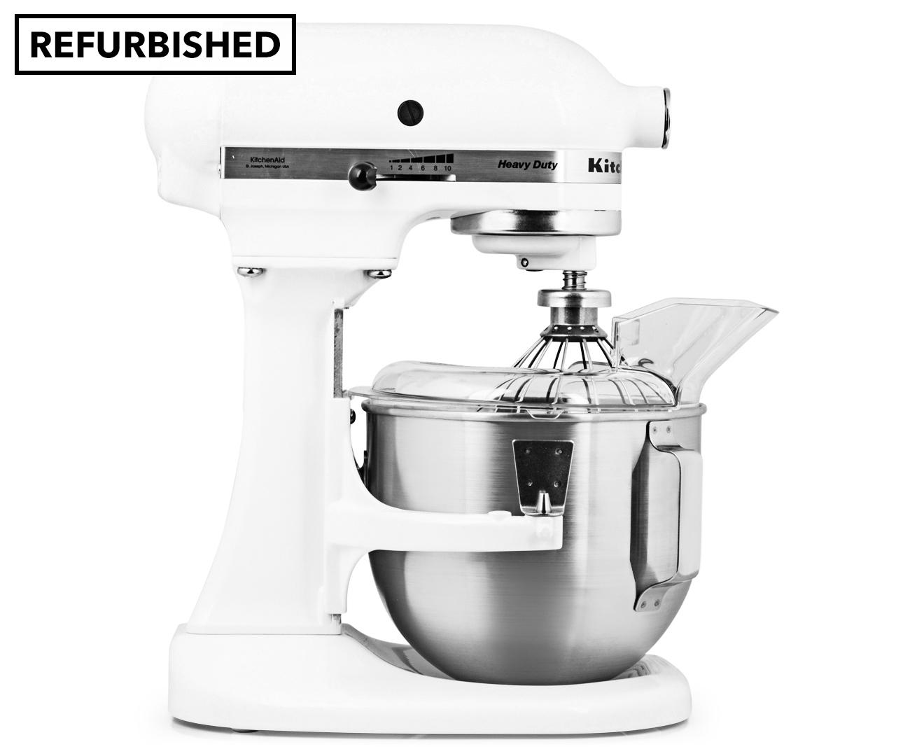 shopping kitchenaid k5ss bowl lift stand mixer refurb white
