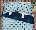 Ardor Christo Reversible Queen Quilt Cover Set - Blue 2