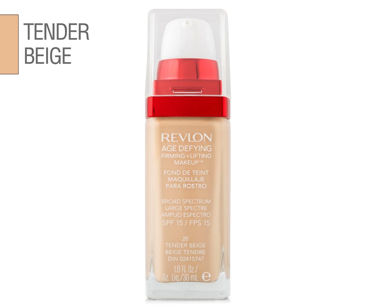 tende beige : ... .au Revlon Age Defying Firming + Lifting Makeup 30mL - Tender Beige