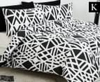 Belmondo Sphinx King Bed Quilt Cover Set - Black/White 1