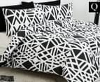 Belmondo Sphinx Queen Quilt Cover Set - Black/White 1