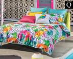 KAS Lucie Queen Bed Quilt Cover Set - Multi 1