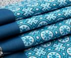Belmondo Brandon King Bed Quilt Cover Set - Teal 4