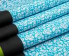 Belmondo Brandon King Bed Quilt Cover Set - Teal 5