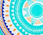 Cooper & Co. 150cm Byron Round Beach Towel - Aqua/Orange/Blue 3