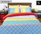 Apartmento Carlos Reversible Single Quilt Cover Set - Multi 1
