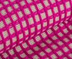 WAM Harrison Square 152x127cm Acrylic Throw w/ Fringe - Pink 4