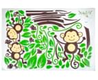 Three Little Monkeys Swinging On A Branch Wall Decal 2