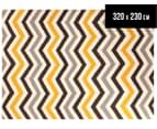 Hand Woven Indian Dhurrie 320x230cm Reversible Rug- Yellow 1