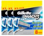 3 x Gillette Mach3 Turbo Cartridges 8pk 1