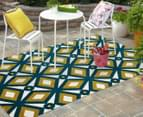 Diamonds 290x200cm Indoor/Outdoor Rug - Blue/Citrus 2