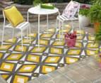 Diamond, Circle & Star 330x240cm Indoor/Outdoor Rug - Yellow 3