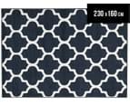 Tesselated Triangles 230x160cm Indoor/Outdoor Rug - Navy 1