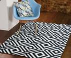 Geometric Centrepoint 330x240cm Indoor/Outdoor Rug - Navy 3