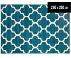 Tesselated Triangles 290x200cm Indoor/Outdoor Rug - Blue 1