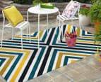 X-Factor 230x160cm Indoor/Outdoor Rug - Peacock Blue/Navy/Yellow/White 2