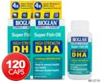 2 x Bioglan Super Fish Oil High Strength DHA 1000mg 60 Caps 1