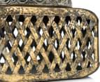 Lustre Antique Box w/ Mirror Top - Gold 6
