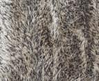 Super Soft Metallic 145x75cm Shag Rug - Granite 5