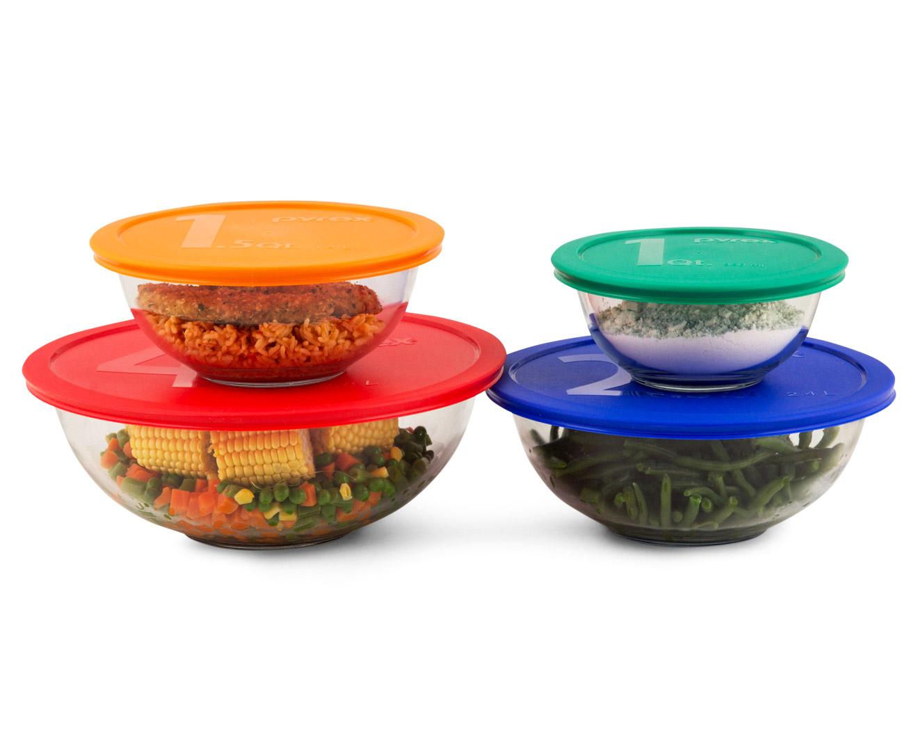Pyrex piece glass mixing bowl set ebay