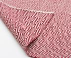 Diamond 320x230cm Reversible Rug - Red 3