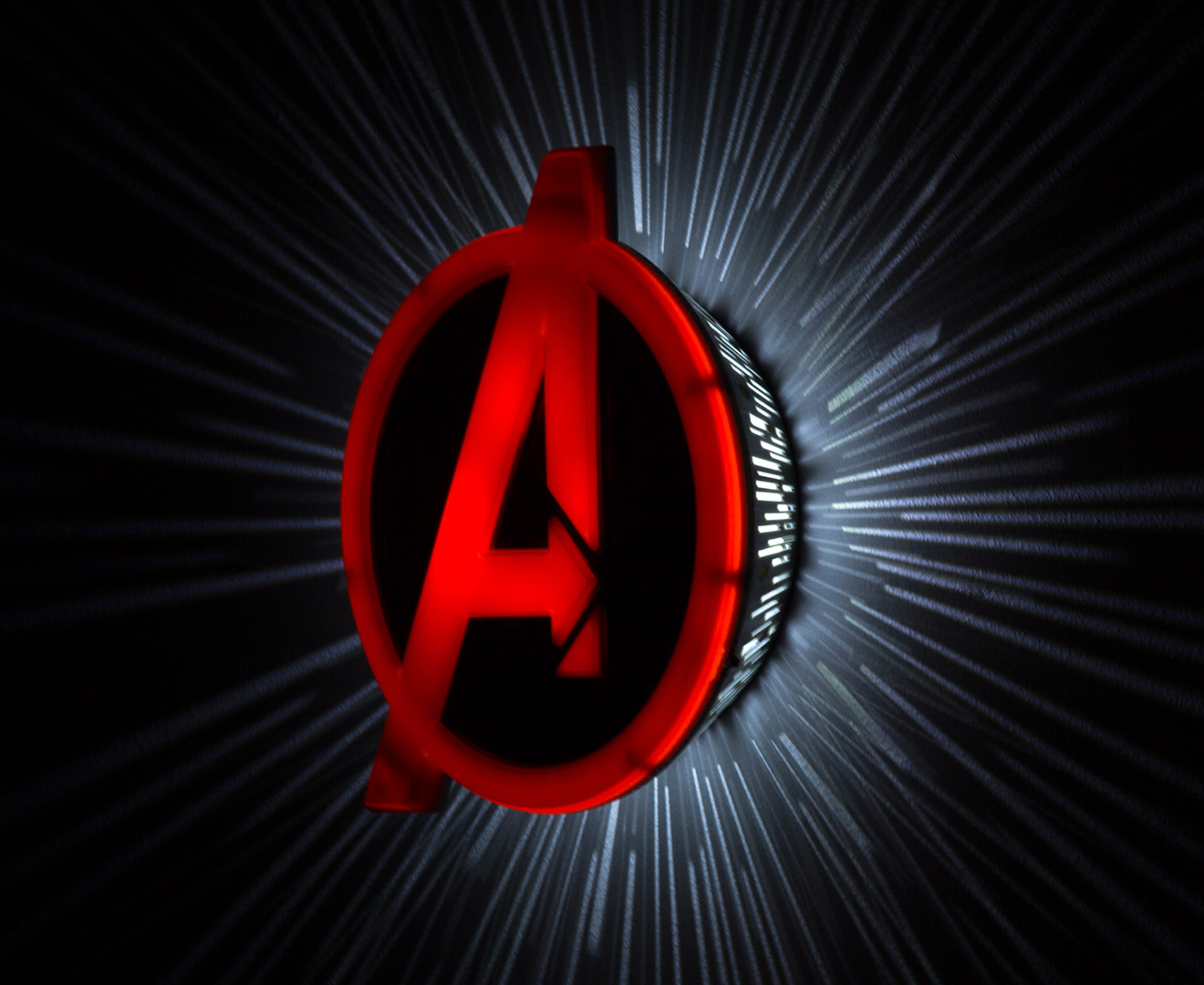 3D Marvel Avengers Shield Wall Light - Red eBay