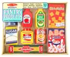 Melissa & Doug Wooden 9-Piece Pantry Products Set 1
