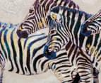 Black & White Luxe Zebras 80x53cm Oil Painting Canvas Wall Art 4