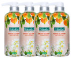4 x Palmolive Collections Liquid Hand Wash Orange & Jasmine 420mL 1