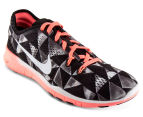 Nike Women's Free 5.0 Tr Fit 5 PRT - Black/Metallic/Silver 2