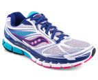 Saucony Women's Guide 8 Shoe - White/Twilight/Pink 2