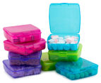 Sistema 510mL Klipo Square Coloured Container 8-Pack - Multi 3