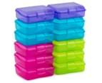 Sistema 200mL Klipo Rectangular Coloured Container 12-Pack - Multi 2