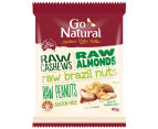 12 x Go Natural Snack Packs Raw Nuts 45g 2
