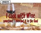 I Cook With Wine 59x40cm Canvas Wall Art 1