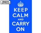 Keep Calm & Carry On Blue 59x40cm Canvas Wall Art 1