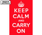 Keep Calm & Carry On Red 59x40cm Canvas Wall Art 1