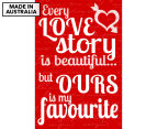 Love Story Reel 59x40cm Canvas Wall Art 1
