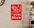 Love Story Reel 59x40cm Canvas Wall Art 2