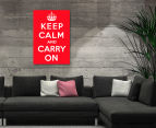 Keep Calm & Carry On Red 59x40cm Canvas Wall Art 2