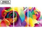 Silk Flowers 45x30cm 3-Part Canvas Wall Art Set 1