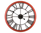 XL 60cm Vintage Wall Clock - Red/Black 1