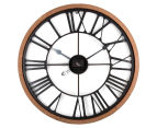 XL 60cm Vintage Wall Clock - Red/Black 6