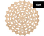 Tessellated Star 120cm Handmade Jute Rug - Natural 1